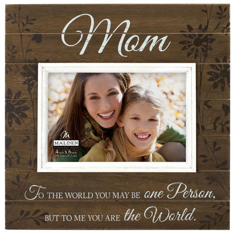 "Malden ""Mom"" Sunwashed Wood Photo Frame"