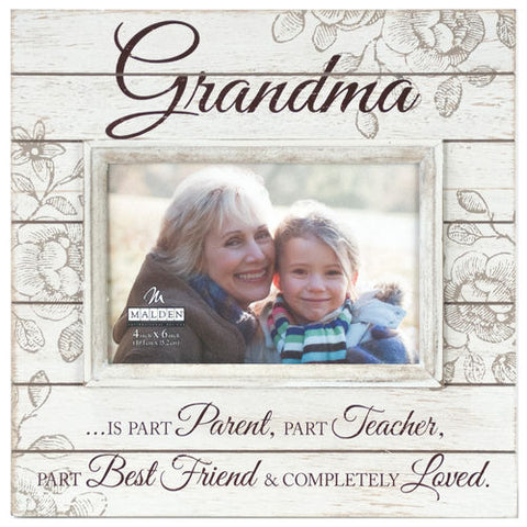 "Malden ""Grandma"" Sunwashed Wood Photo Frame"