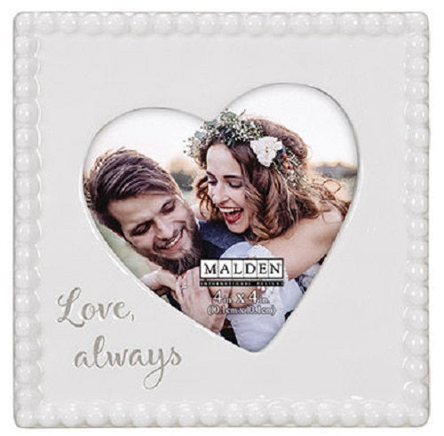 "Malden ""Love, always"" Ceramic Beaded Frame"