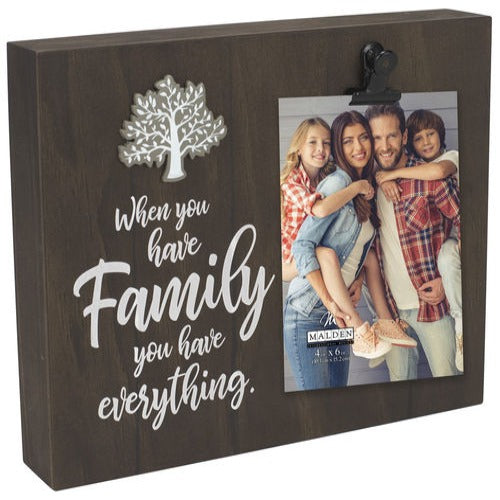 "Malden ""Family you have everything"" Photo Frame"
