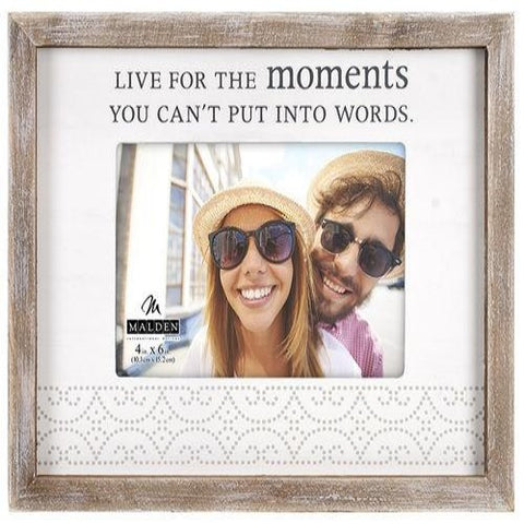 "Malden ""LIVE FOR THE moments YOU CAN'T PUT INTO WORDS."" Frame"