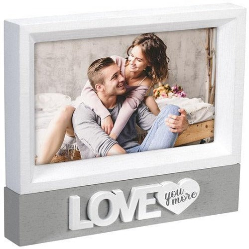 """Love You  More"" 4x6 Malden Photo Frame"