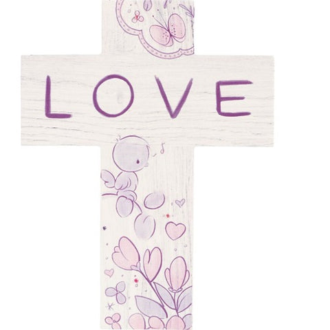 Precious Moments Love Wooden Wall Cross