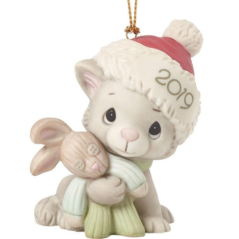 Precious Moments Cuddling Cat Christmas 2019 Ornament