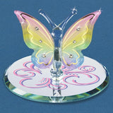 Glass Baron Butterfly Figurine - Rainbow Flutter