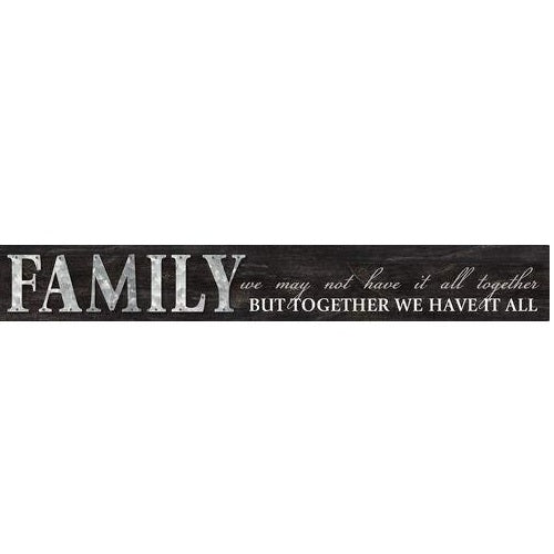 "Malden ""36"" ""Family.....We Have It All"" Galvanized Panel"