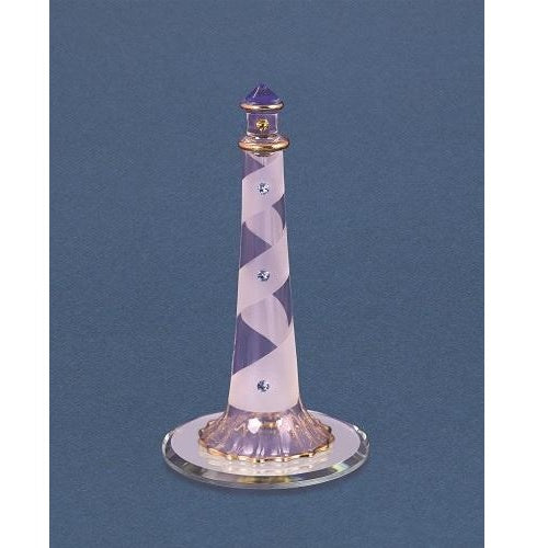 Glass Baron Lighthouse Blue Crystals