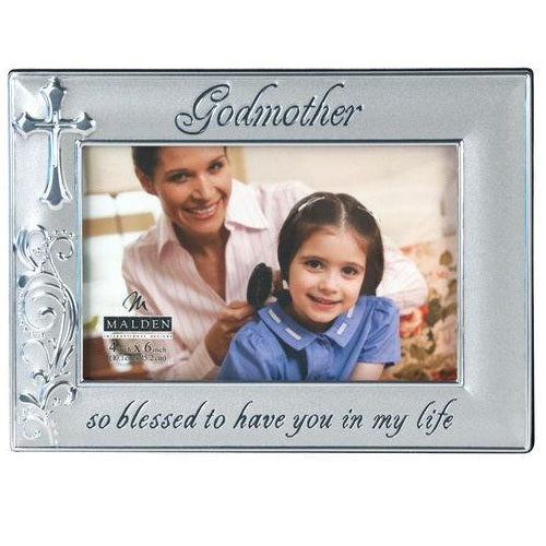 "Malden 4"" x 6"" Godmother Metal Picture Frame"