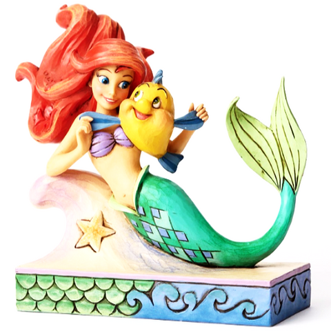 Disney Ariel with Flounder - Ria's Hallmark & Jewelry Boutique