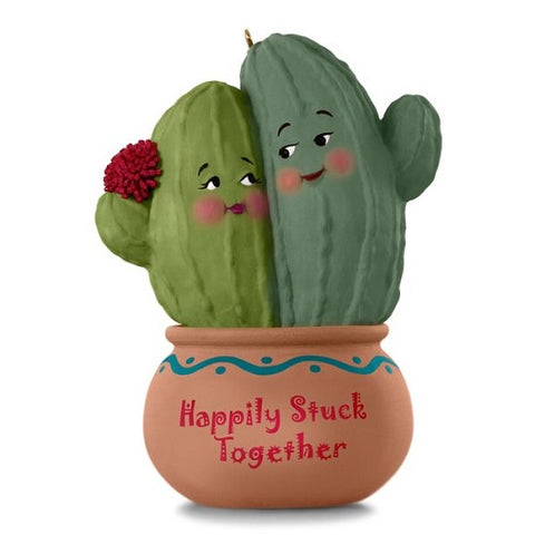 Happily Stuck Together Cactus Ornament - Ria's Hallmark & Jewelry Boutique
