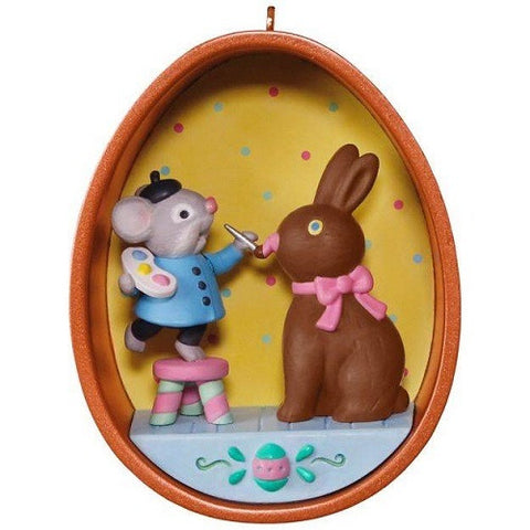 Hallmark Happy Easter Cookie Cutter Mouse Ornament 3rd in the Series