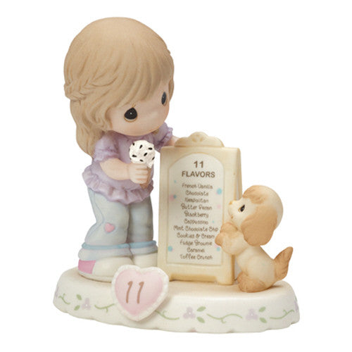 Precious Moments Growing In Grace Age 11 Brunette Girl Figurine - Ria's Hallmark & Jewelry Boutique