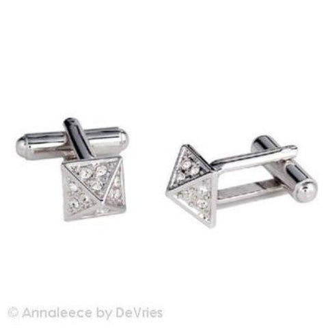 Apex by Annaleece Swarovski Crystal Cuff Links - Ria's Hallmark & Jewelry Boutique