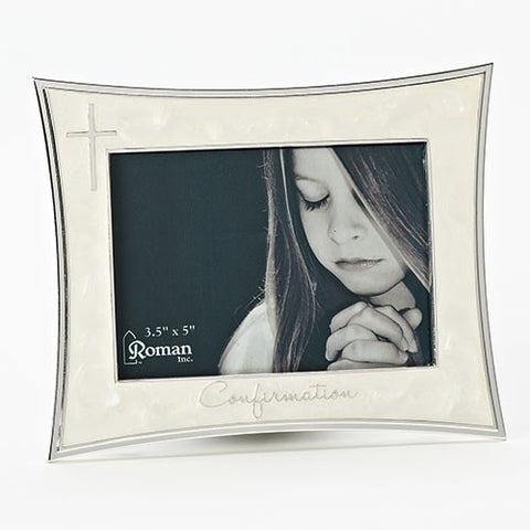 "Roman Inc Confirmation Frame Ivory 3.5"" X 5"""