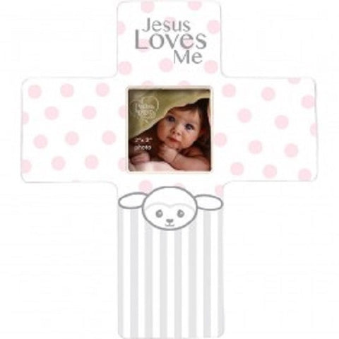 Precious Moments Jesus Loves Me Lamb Frame - Girl - Ria's Hallmark & Jewelry Boutique