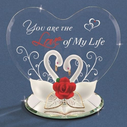 "Glass Baron Swans ""Love Of My Life"" - Ria's Hallmark & Jewelry Boutique"