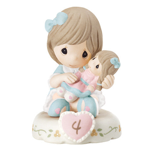 Precious Moments Growing In Grace Age 4 Brunette - Ria's Hallmark & Jewelry Boutique