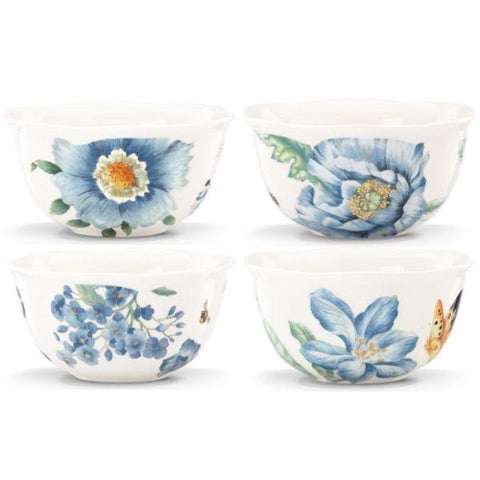 Lenox Butterfly Meadow Blue 4-Piece Dessert Bowl Set - Ria's Hallmark & Jewelry Boutique