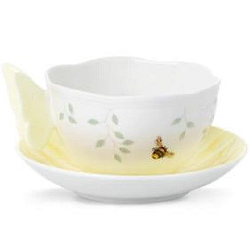 Lenox Butterfly Meadow Cup And Saucer Yellow - Ria's Hallmark & Jewelry Boutique