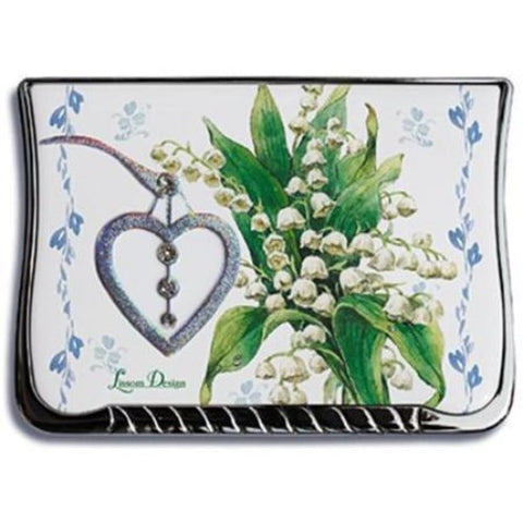 Lissom Design Compact Mirror Cottage in Bloom/ Lily - Ria's Hallmark & Jewelry Boutique