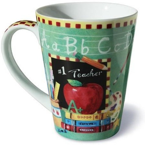 Lissom Design Porcelain Mug - #1 Teacher - Ria's Hallmark & Jewelry Boutique