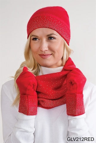 Simply Noelle Starstruck Gloves Red