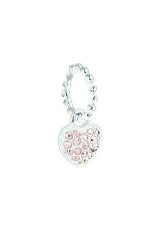 Chamilia Petite Pavé Heart Crystal Rose Gold
