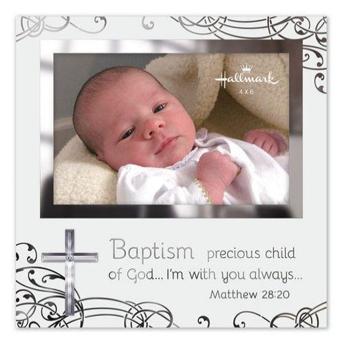 Malden Baptism Frosted Glass Frame 4x6 - Ria's Hallmark & Jewelry Boutique