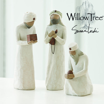 Willow Tree The Three Wisemen Nativity 3 Piece Figurine Set - Ria's Hallmark & Jewelry Boutique