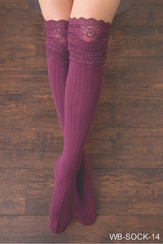 WB Tall Lace Sock - Ria's Hallmark & Jewelry Boutique - 1