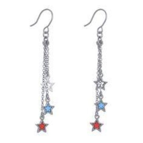 Patriotic by Annaleece Swarovski Crystal Earrings