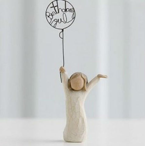 Willow Tree Birthday Girl Figurine - Ria's Hallmark & Jewelry Boutique
