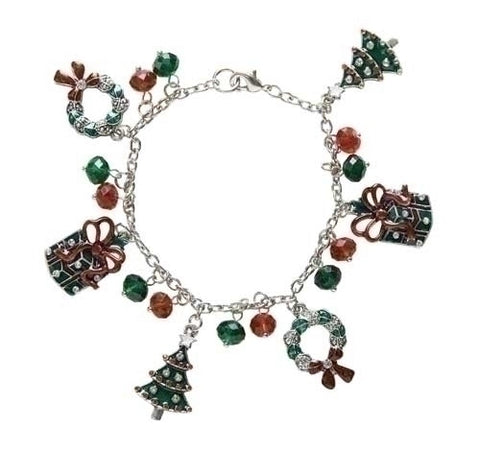 Roman Wreath and Tree Charm Bracelet - Ria's Hallmark & Jewelry Boutique