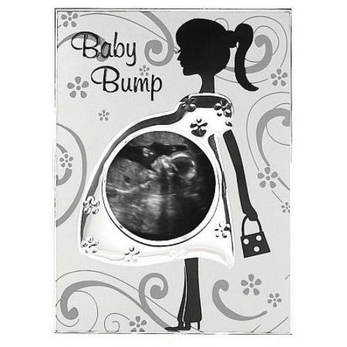 Malden Baby Bump Sonogram Metal Picture Frame - Ria's Hallmark & Jewelry Boutique