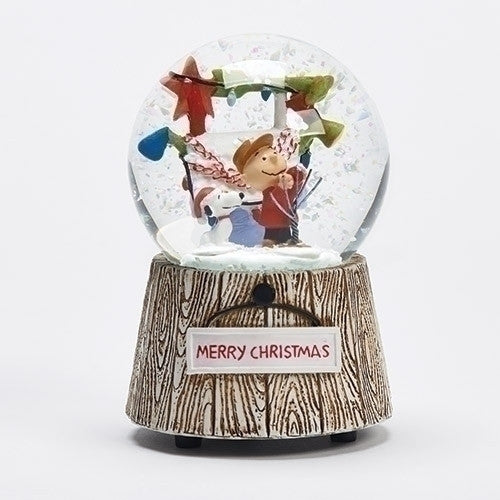 Roman Inc Charlie Brown Glitterdome - Ria's Hallmark & Jewelry Boutique