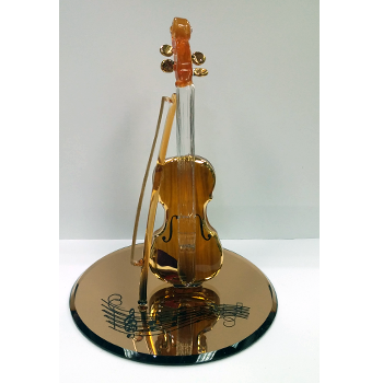 Glass Baron Gold Violin Figurine - Ria's Hallmark & Jewelry Boutique