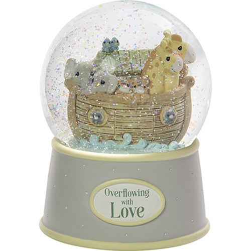 """Overflowing With Love"" Noah's Ark Resin Snow Globe"