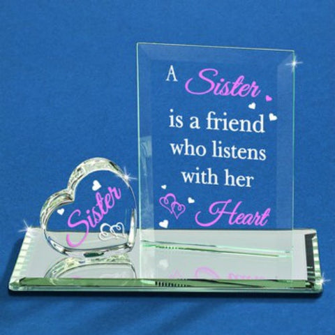 "Glass Baron ""Listens With Her Heart"" Sister Figurine"