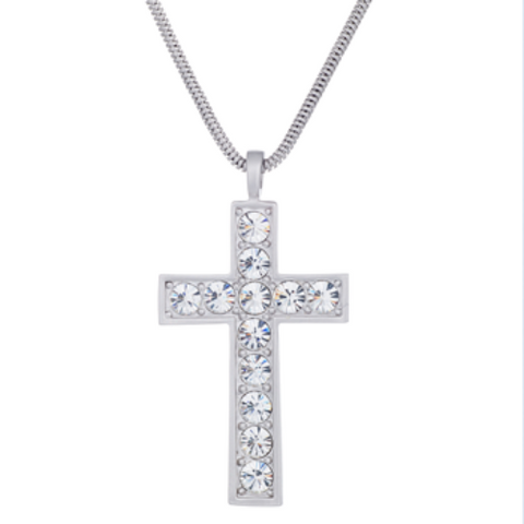 Luminous Cross by Annaleece Swarovski Crystal Necklace - Ria's Hallmark & Jewelry Boutique