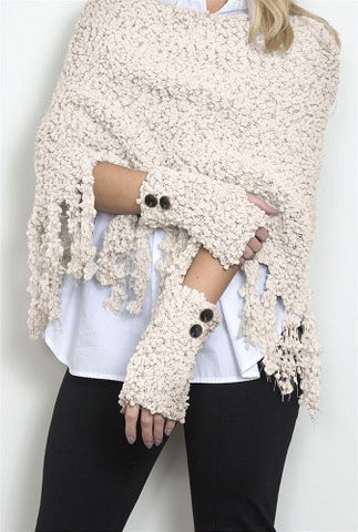 WB Shearling Wrist Warmers With Buttons - Ria's Hallmark & Jewelry Boutique - 1
