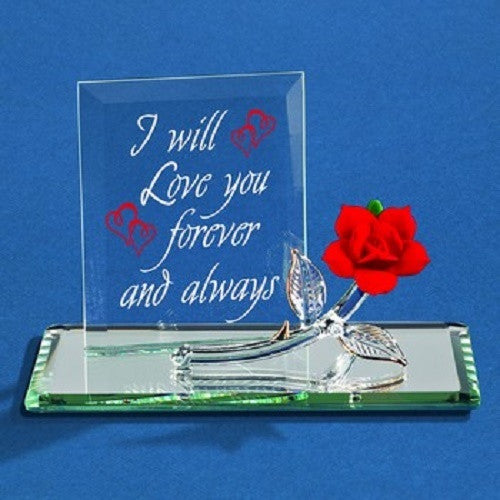 Glass Baron Forever Red Rose - Ria's Hallmark & Jewelry Boutique