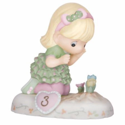 Precious Moments Growing In Grace Age 3 Blonde - Ria's Hallmark & Jewelry Boutique