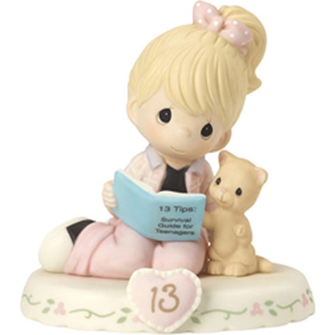 Precious Moments Growing In Grace Age 13 Blonde Girl Figurine