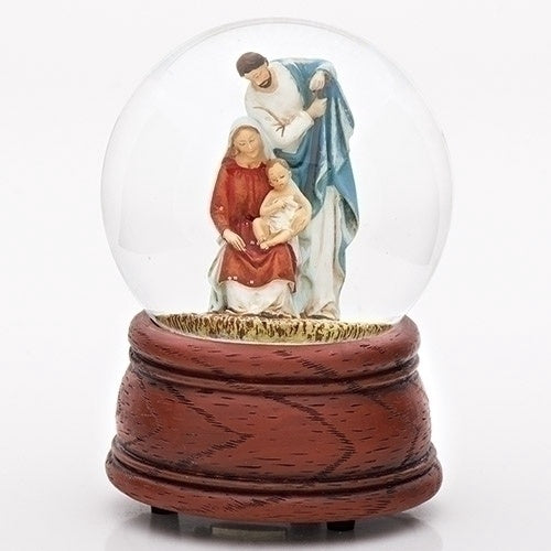 Musical Holy Family Nativity Glitterdome Water Globe