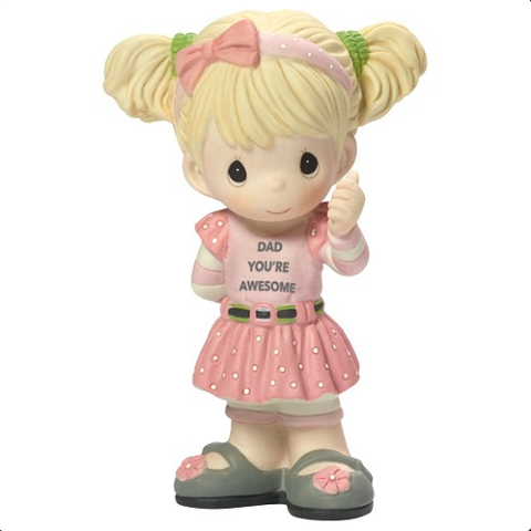 "Precious Moments ""Dad You're Awesome"" Figurine, Girl"