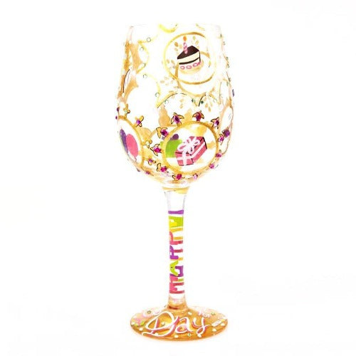 Lolita Wine Glass - Queen for a Day Birthday - Ria's Hallmark & Jewelry Boutique