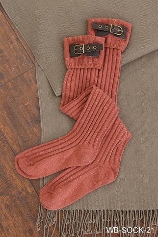 WB Tall Buckle Sock Asst - Ria's Hallmark & Jewelry Boutique - 1