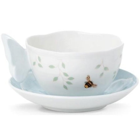 LENOX Butterfly Meadow Blue Butterfly Cup & Saucer - Ria's Hallmark & Jewelry Boutique