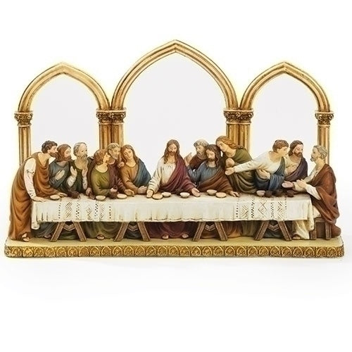 "Roman 12"" Last Supper With Arches Florentine Style"