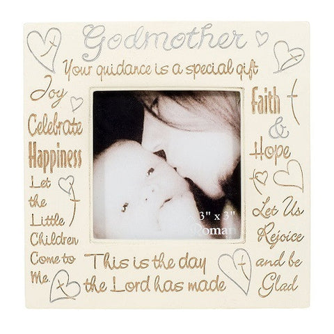 Godmother Heartfelt Words 3X3 Square Frame